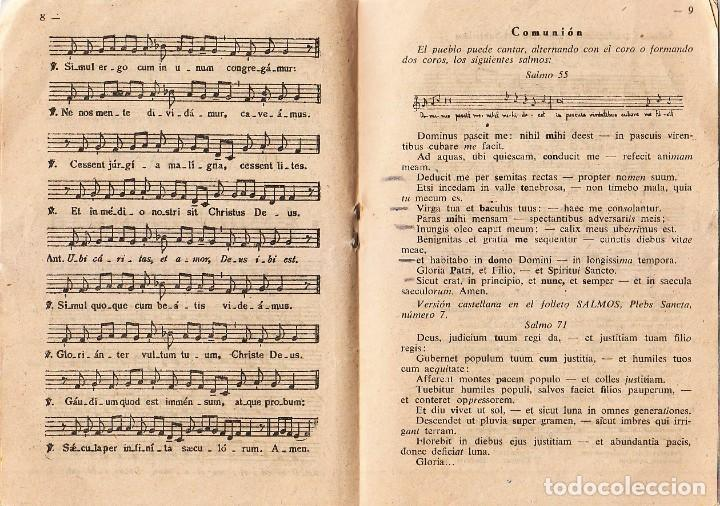 Postales: Antiguo folleto Plebs Sancta Cánticos de Semana Santa Palacio Arzobispal Valencia 60s qz - Foto 4 - 234908805