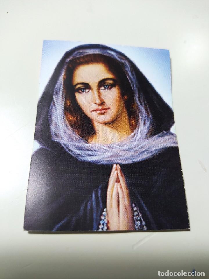 ESTAMPA RELIGIOSA CON IMAGEN DE LA VIRGEN (Postales - Postales Temáticas - Religiosas y Recordatorios)