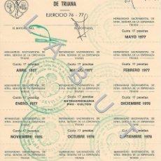 Postales: ESPERANZA DE TRIANA CAPILLA MARINEROS SEMANA SANTA SEVILLA C44. Lote 235365320