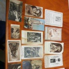 Postales: LOTE 15 ESTAMPITAS RELIGIOSAS AÑOS 40. Lote 235813125