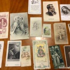 Postales: LOTE 15 ESTAMPITAS RELIGIOSAS AÑOS 40. Lote 235818115