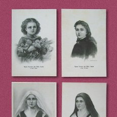 Postales: LOTE DE 4 POSTALES DE SANTA TERESA DE JESÚS - DIBUJADA POR RAMON CASAS Y DIONIS BAIXERAS. Lote 237105645