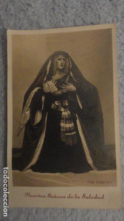 RECUERDO SOLEMNE SEPTENARIO.VIRGEN NUESTRA SEÑORA SOLEDAD.S.BUENAVENTURA.SEVILLA 1943.FOTO ALBARRAN. (Postales - Postales Temáticas - Religiosas y Recordatorios)