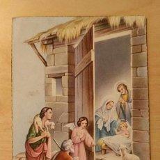 Postales: PT 1 ANTIGUA POSTAL - ADORACIÓN DE LOS PASTORES EN LA CASA DEL NIÑO JESÚS - 5/PACIS 1120. Lote 238670365