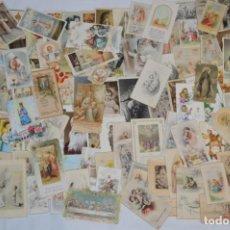 Postales: LOTE 05 - SOBRE 120 RECORDATORIOS/ESTAMPAS RELIGIOSAS - MAYORÍA 1ª COMUNIÓN - PRINCIPIOS 1900 A 1960. Lote 238757565