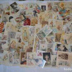 Postales: LOTE 02 - SOBRE 120 RECORDATORIOS/ESTAMPAS RELIGIOSAS - MAYORÍA 1ª COMUNIÓN - PRINCIPIOS 1900 A 1960. Lote 238763360