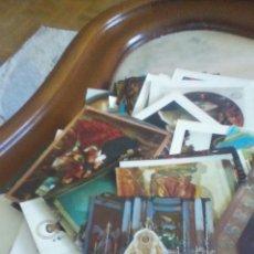 Postales: LOTE DE 100 POSTALES RELIGIOSAS SURTIDAS,VIRGENES,CRISTOS,SANTOS,AÑOS 60__70.. Lote 238796640