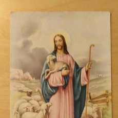 Postales: PT 5 ANTIGUA POSTAL - JESÚS DE CAMINO RODEADO DE CORDEROS - S/PAC15 - L/T 1162 - FORMATO 13.50X9CM. Lote 239447935