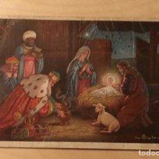 Postales: PT 11 ANTIGUA POSTAL RELIGIOSA - ADORACIÓN DE LOS REYES MAGOS - ILUSTRADOR COLOMBO - 9CM X 14CM. Lote 239468745