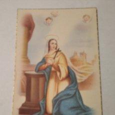 Postales: POSTAL RELIGIOSA ANTIGUA SANTA ADELA AÑOS 60. Lote 240127130