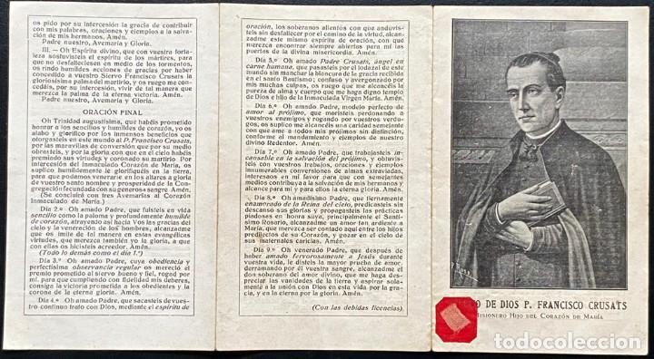 Postales: Biografia del siervo de Dios P. Francisco Crusats - Foto 2 - 240219645
