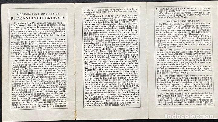 Postales: Biografia del siervo de Dios P. Francisco Crusats - Foto 3 - 240219645