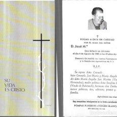 Postais: RECORDATORIO DEFUNCIÓN AÑO 1980 - ALICANTE. Lote 240444680