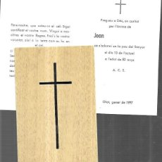 Cartoline: RECORDATORIO DEFUNCION . OLOT 1997. Lote 240453250