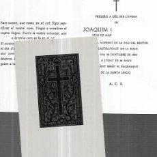Cartoline: RECORDATORIO DEFUNCION CASTELLFULLIT DE LA ROCA -1990. Lote 240453615
