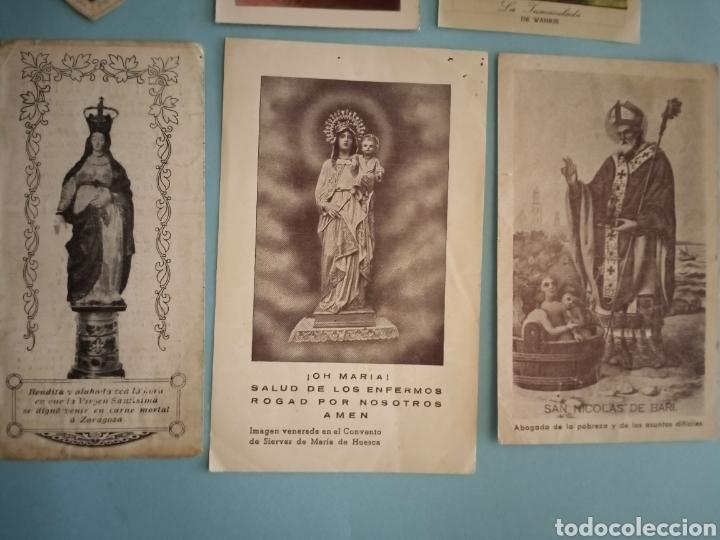 Postales: ESTAMPITAS Y RELIQUIA virgen Pilar, Huesca, inmaculada wankie, San Carlos, San José, Santa Elena.. - Foto 3 - 241332540
