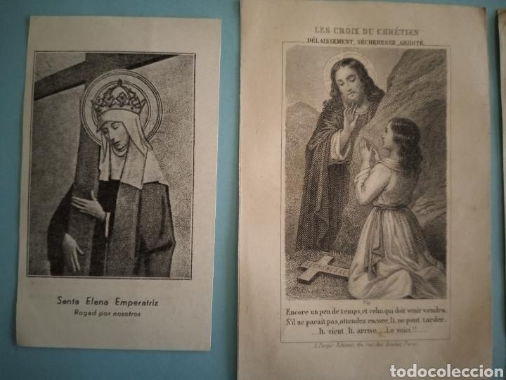 Postales: ESTAMPITAS Y RELIQUIA virgen Pilar, Huesca, inmaculada wankie, San Carlos, San José, Santa Elena.. - Foto 4 - 241332540