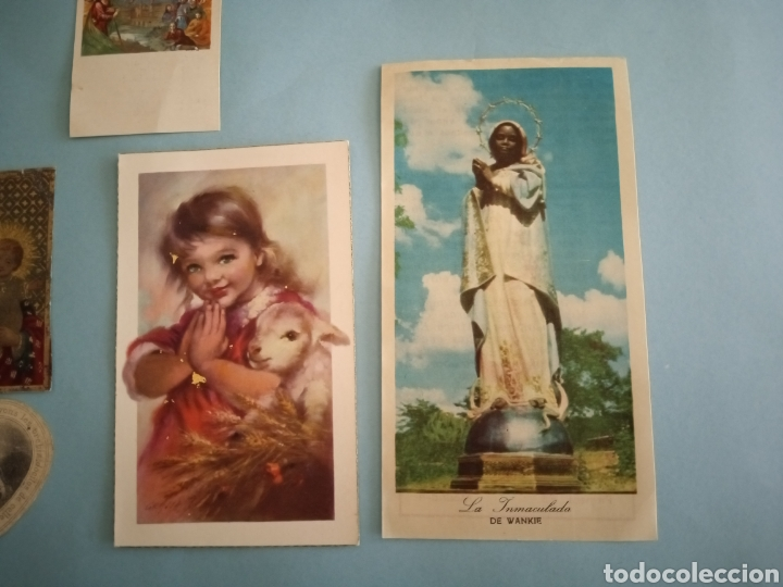 Postales: ESTAMPITAS Y RELIQUIA virgen Pilar, Huesca, inmaculada wankie, San Carlos, San José, Santa Elena.. - Foto 5 - 241332540