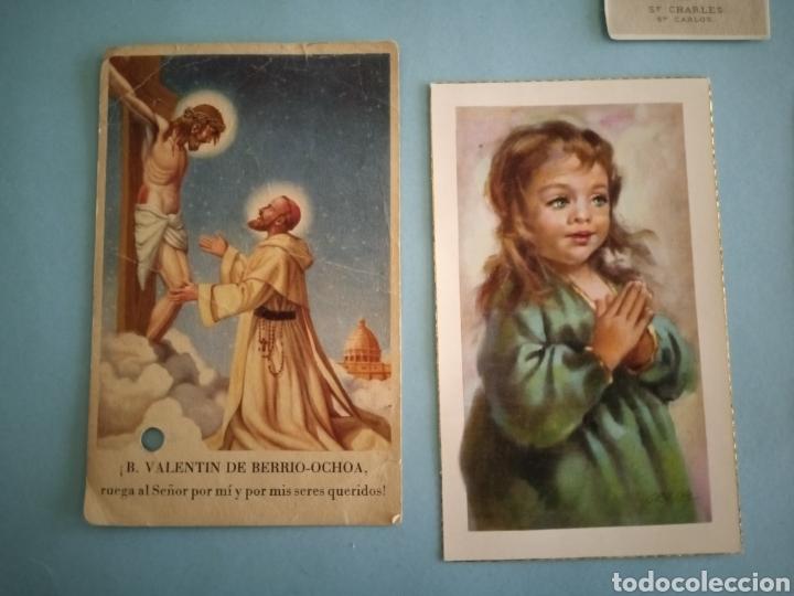 Postales: ESTAMPITAS Y RELIQUIA virgen Pilar, Huesca, inmaculada wankie, San Carlos, San José, Santa Elena.. - Foto 6 - 241332540