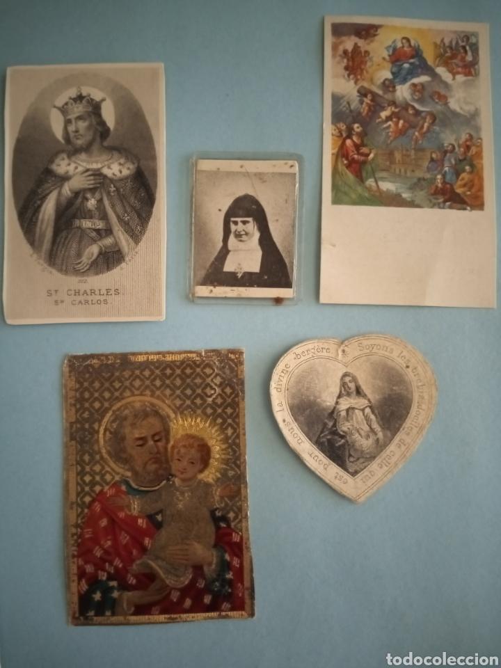 Postales: ESTAMPITAS Y RELIQUIA virgen Pilar, Huesca, inmaculada wankie, San Carlos, San José, Santa Elena.. - Foto 7 - 241332540