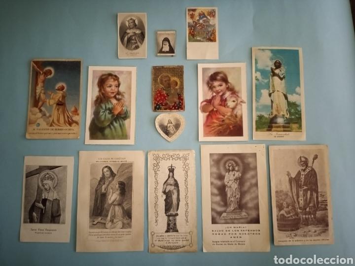 ESTAMPITAS Y RELIQUIA VIRGEN PILAR, HUESCA, INMACULADA WANKIE, SAN CARLOS, SAN JOSÉ, SANTA ELENA.. (Postales - Postales Temáticas - Religiosas y Recordatorios)