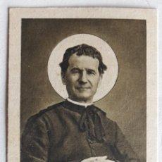 Cartes Postales: ANTIGUA ESTAMPA DE SAN JUAN BOSCO CON RELIQUIA (EX INDUMENTIS) TURÍN, 1 DE FEBRERO DE 1934. Lote 241438745