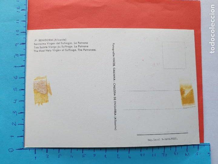 Postales: STMA. VIRGEN DEL SUFRAGIO (PATRONA DE BENIDORM - ALICANTE) // ( PTL RELIGIOSA II ) - Foto 2 - 241447520