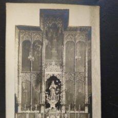 Postales: POSTAL FOTOGRÁFICA VIRGEN CON NIÑO EN ALTAR.SIN CIRCULAR.. Lote 241896595