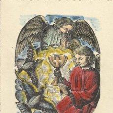 Postales: A ANTONI GOMÀ ROCA I ELS SEUS. PRIMERA COMUNIÓ GERMANS NOVELL BURGUÉS. SANT JOSEP. TÀRREGA. 1952.. Lote 242857140
