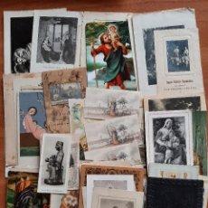 Postales: LOTE DE 80 RECORDATORIOS Y SIMILARES. Lote 243168265