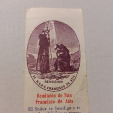 Postales: ESTAMPA BENDICIÓN DE SAN FRANCISCO DE ASÍS EXHORTACIÓN REVERSO.. Lote 243602950