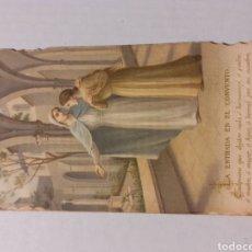 Postales: ESTAMPA RECORT DE LA PROFESSIÓ RELIGIOSA 1911.. Lote 243629355