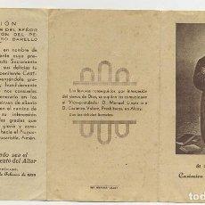 Postales: NOVENA DE CASIMIRO BARELLO MORELLO TRIPTICO 1928. Lote 244431770