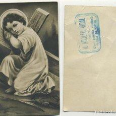 Postales: ESTAMPA DE MUESTRA V. ADOLFO VIDAL OLOT DIEZ PESETAS EL CIENTO MIDE 10/6 CM. Lote 244432195