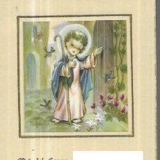 Postales: RECORDATORIO COMUNION FERRÀNDIZ - 1957. Lote 244640885
