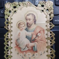 Postales: EL PATRIARCA SAN JOSE. PUNTILLA FRANCESA. CIRCULADA. 1914. Lote 244769600