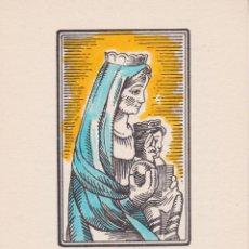 Postales: ESTAMPA RELIGIOSA: AVE A LA VERGE DE MIG-ARAN, VALL D'ARAN - TORRELL DE REUS (100). Lote 244918030