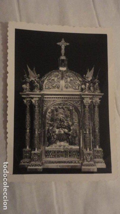 RECUERDO BENDICION SOLEMNE.ALTAR SAGRARIO.IGLESIA SANTO ANGEL.BUENO MONREAL.SEVILLA 1963 (Postales - Postales Temáticas - Religiosas y Recordatorios)