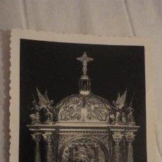 Postales: RECUERDO BENDICION SOLEMNE.ALTAR SAGRARIO.IGLESIA SANTO ANGEL.BUENO MONREAL.SEVILLA 1963. Lote 246186310