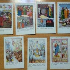 Cartes Postales: LOTE 7 CROMOS ESTAMPAS RELIGIOSAS. XACOLATES ESTEVE CASAS, CHOCOLATES ST. FELIU DE PALLAROS, GERONA.. Lote 248098290