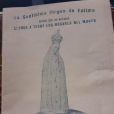 Postales: CUADERNILLO DE 1954 CON EL MENSAJE DE LAS APARICIONES DE FATIMA. Lote 248970985