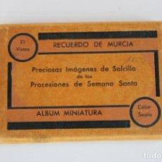 Postales: PRECIOSAS IMAGENES DE SALCILLO PROCESIONES DE SEMANA SANTA, RECUERDO DE MURCIA. Lote 251309185