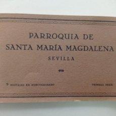 Postales: BLOCK DE 9 POSTALES ANTIGUAS EN HUECOGRABADO, PARROQUIA DE SANTA MARIA MAGDALENA, SEVILLA. 1ª SERIE. Lote 252282590