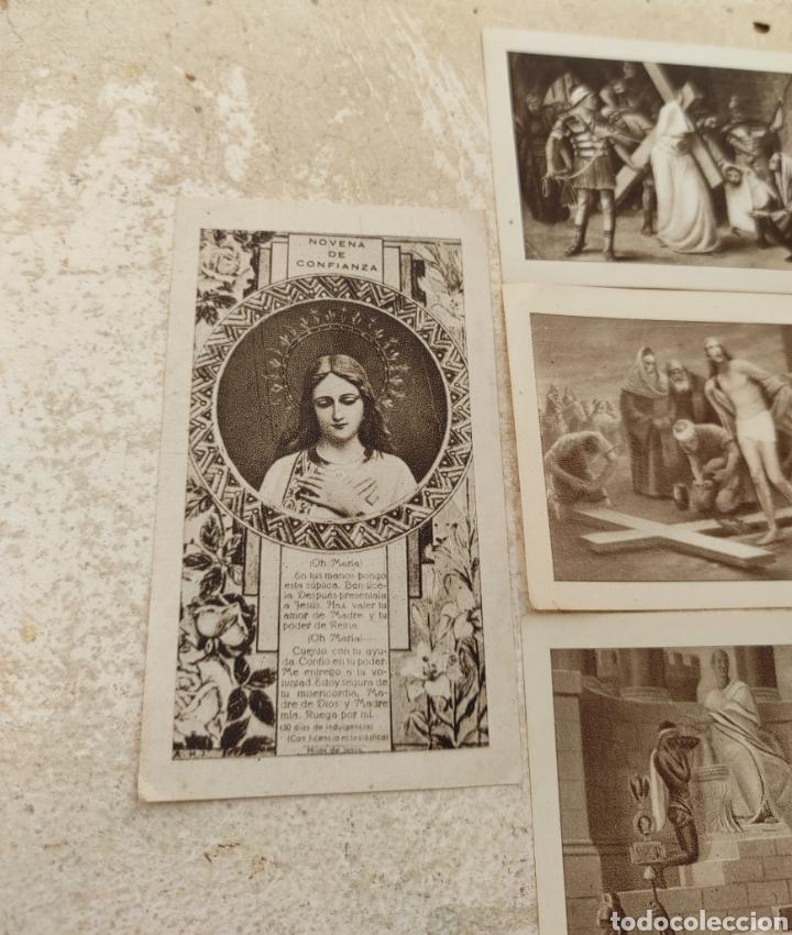 Postales: Recuerdos Santa Misión - Iglesia Nuestra Señora del Pilar - Bonrepos y Mirambell - Valencia 1945 - Foto 2 - 254449695
