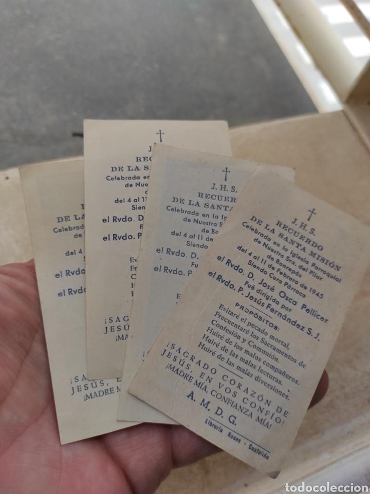 Postales: Recuerdos Santa Misión - Iglesia Nuestra Señora del Pilar - Bonrepos y Mirambell - Valencia 1945 - Foto 4 - 254449695