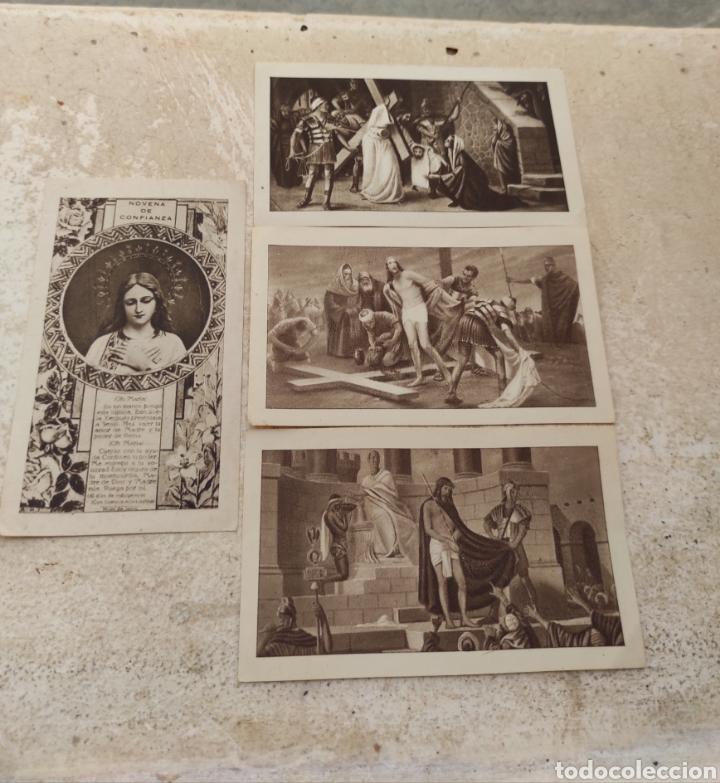 RECUERDOS SANTA MISIÓN - IGLESIA NUESTRA SEÑORA DEL PILAR - BONREPOS Y MIRAMBELL - VALENCIA 1945 (Postales - Postales Temáticas - Religiosas y Recordatorios)