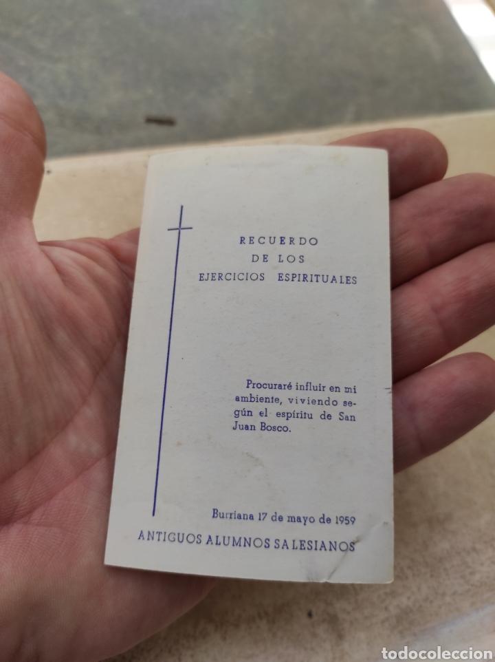 Postales: Estampa Religiosa Juan XXIII - Antiguos Alumnos Salesianos - Burriana - Castellón 1959 - Foto 2 - 254452145