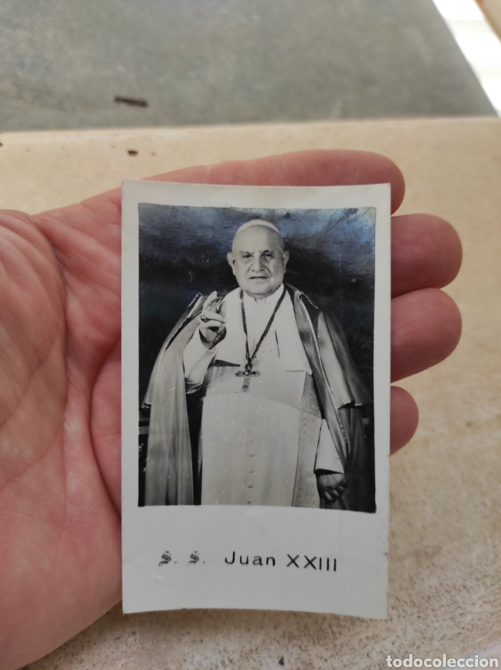 Postales: Estampa Religiosa Juan XXIII - Antiguos Alumnos Salesianos - Burriana - Castellón 1959 - Foto 3 - 254452145