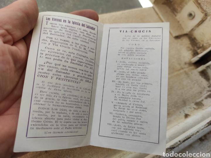 Postales: Estampa Religiosa - Oración y Penitencia Cofradía del Santísimo Cristo Salvador - Valencia - Foto 4 - 254453210
