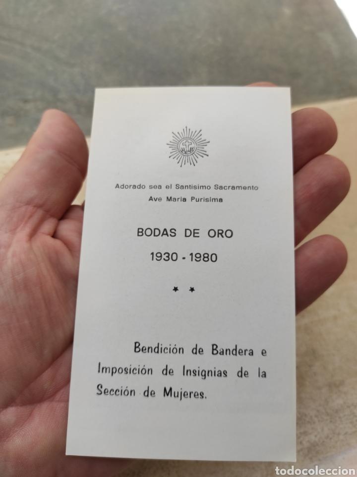Postales: Adoración Nocturna Española - Bodas de Oro - Bonrepos y Mirambell - Valencia - 1980 - - Foto 2 - 254453820